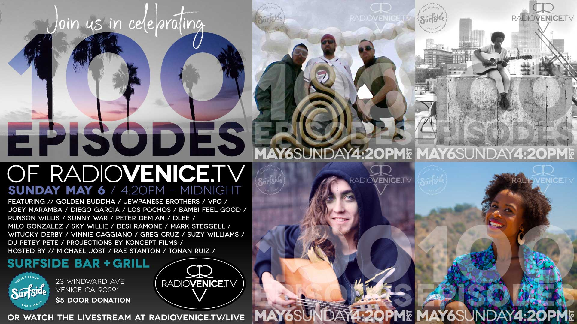 Live Music Event Production: Radio Venice 100 Episodes